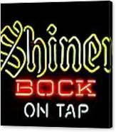 Shiner Bock On Tap Canvas Print