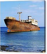 Shipwreck On Lanzarote Canvas Print