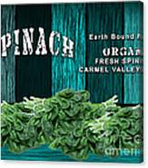 Spinach Patch Canvas Print