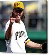 St Louis Cardinals V Pittsburgh Pirates 4 Canvas Print
