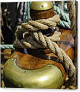 Tall Ship Rigging Vertical Canvas Print