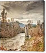 The Ancient Bridge At Ponte Novu In Corsica Canvas Print