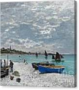 The Beach At Sainte-adresse Canvas Print