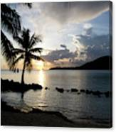 The Beach Of White Sand With Views Canvas Print