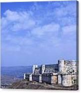 The Crusader Castle Krak Des Chevaliers Syria Canvas Print