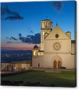 The Papal Basilica Of St. Francis Of Assisi  Canvas Print
