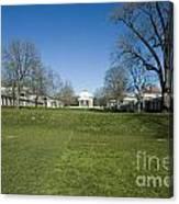 The Rotunda On The Lawn Canvas Print