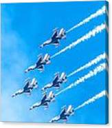 Thunderbirds And Blue Sky  Canvas Print