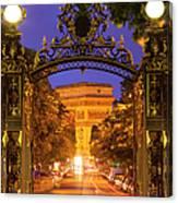 Twilight At Arc De Triomphe Canvas Print