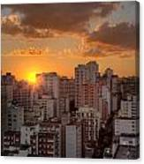 Twilight In Sao Paulo Canvas Print