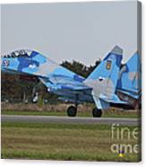 Ukrainian Air Force Su-27 Flanker Canvas Print