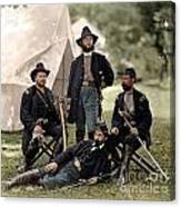 4 Union Officers Of The 4th Pennsylvania Cavalry Canvas Print