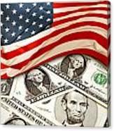 Usa Finance Canvas Print