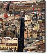 View From Torre Latinoamerican Canvas Print