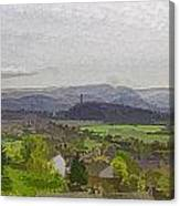 View Of Wallace Monument And Surrounding Areas Canvas Print