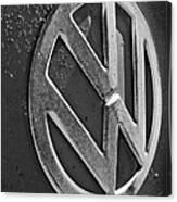 Volkswagen Vw Bus Front Emblem Canvas Print