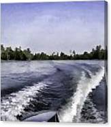 Wake From The Wash Of An Outboard Motor Canvas Print
