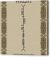 Walsh Written In Ogham Canvas Print