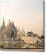 Wat Rong Khun In Chiang Rai Thailand  Canvas Print