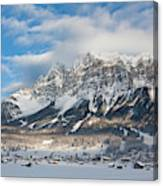 Wetterstein Mountain Chain With Mt Canvas Print