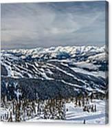Whistler Mountain Peak View From Blackcomb Canvas Print