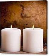 White Candles Canvas Print