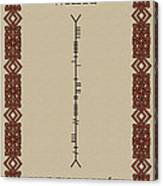 White Written In Ogham. Canvas Print