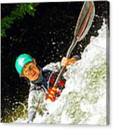 Whitewater Kayak Canvas Print