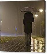 Woman With An Umbrella Canvas Print