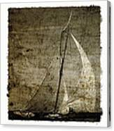 40 Sailboat - With Open Wings In A Grunge Background  Canvas Print