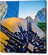 Skyline And City Streets Of Charlotte North Carolina Usa Canvas Print