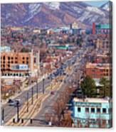 400 S Salt Lake City Canvas Print