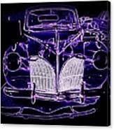 41 Lincoln In Neon Canvas Print