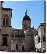 Views Of Dubrovnik Croatia Canvas Print