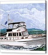 42 Foot Grand Banks Motoryacht Canvas Print