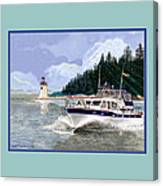 43 Foot Tollycraft Southbound In Clovos Passage Canvas Print