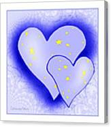 457 - Two Hearts Blue Canvas Print
