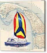 39 Foot Beneteau Cape Cod Chart Art Canvas Print