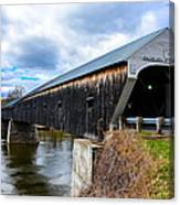 460 Foot Long New Hampshire Covered Bridge Canvas Print