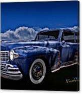 48 Lincoln Continental By Moonlight Canvas Print