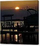 An Outer Banks Of North Carolina Sunset Canvas Print