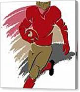 49ers Shadow Player2 Canvas Print