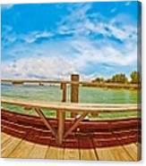 4x1 Anna Maria Island Rod And Reel Pier Canvas Print
