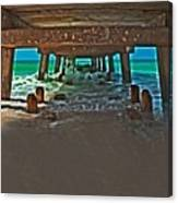4x1 Under Fishing Pier Canvas Print