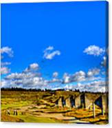 #18 At Chambers Bay Golf Course  Canvas Print