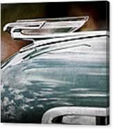 1940 Chevrolet Hood Ornament Canvas Print