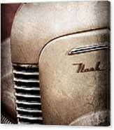 1940 Nash Sedan Grille Canvas Print