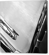 1955 Chevrolet Belair Emblem Canvas Print