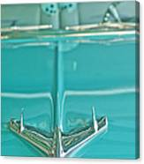 1956 Chevrolet Belair Hood Ornament Canvas Print
