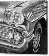 1958 Chevrolet Bel Air Impala Painted Bw  Canvas Print